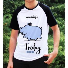 eJOYA Kişiye Özel Friday Moods Erkek Tshirt 82686