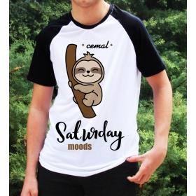 eJOYA Kişiye Özel Saturday Moods Erkek Tshirt 82688