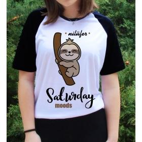 eJOYA Kişiye Özel Saturday Moods Bayan Tshirt 82689
