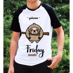 eJOYA Kişiye Özel Friday Moods Erkek Tshirt 82690