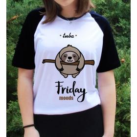 eJOYA Kişiye Özel Friday Moods Bayan Tshirt 82691