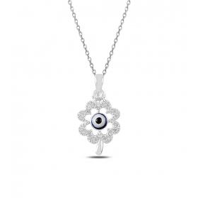eJOYA Nazarlı Çiçek Gümüş Kolye 82723