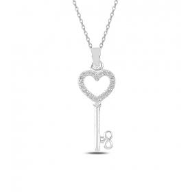 eJOYA Kalbimin Anahtarı Gümüş Kolye 82763