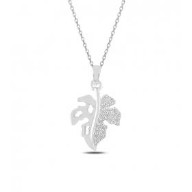 eJOYA Çınar Yaprağı Gümüş Kolye 82790