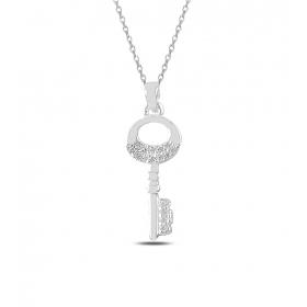 eJOYA Şanslı Anahtar Gümüş Kolye 82796
