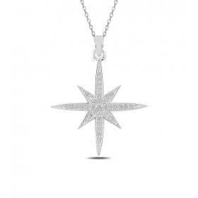 eJOYA Kuzey Yıldızı Gümüş Kolye 82807