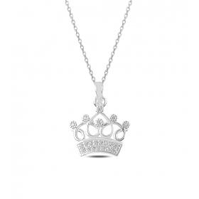 eJOYA Başımın Işıltılı Tacısın Gümüş Kolye 82810