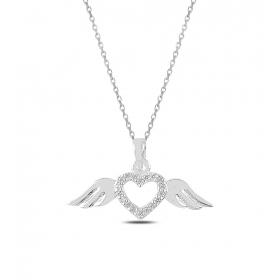 eJOYA Kalbimin Kanatları Gümüş Kolye 82820