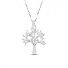 eJOYA Yaşam Ağacı Gümüş Kolye 82872