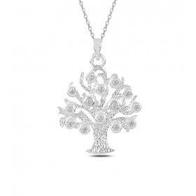 eJOYA Hayatımın Ağacı Gümüş Kolye 82882