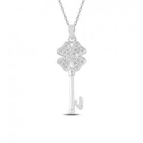eJOYA Şanslı Yoncam Anahtar Gümüş Kolye 82891