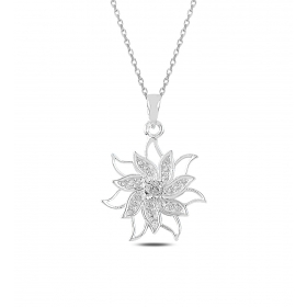 eJOYA Lotus Gümüş Kolye 82895