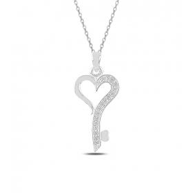 eJOYA Kalbimin Anahtarı Gümüş Kolye 82920
