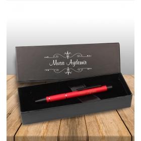 eJOYA Kişiye Özel Kutuda Kırmızı Metal Tükenmez Kalem 82922