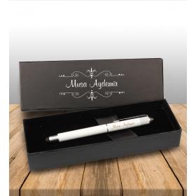 eJOYA Kişiye Özel Kutuda Tasarım Beyaz Roller Touch Kalem 83056