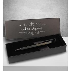 eJOYA Kişiye Özel Kutuda Telefon Tutacaklı Siyah Tükenmez Kalem 83059
