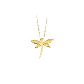 eJOYA 14 Ayar Altın Kelebekler Taşlı Kolye 83209