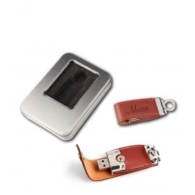 eJOYA Kişiye Özel Deri 16gb USB Anahtarlık 83227