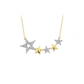eJOYA 14 Ayar Altın Yıldız Taşlı Kolye 83311