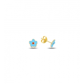 eJOYA Çocuk Çiçek Altın Küpe 83368