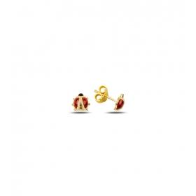 eJOYA Çocuk Uğur Böceği Altın Küpe 83371