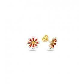 eJOYA Çocuk Çiçek Altın Küpe 83380