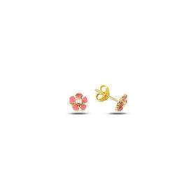 eJOYA Çocuk Çiçek Altın Küpe 83389