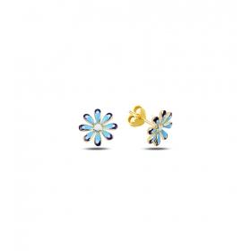 eJOYA Çocuk Çiçek Altın Küpe 83395