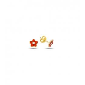 eJOYA Çocuk Çiçek Altın Küpe 83396