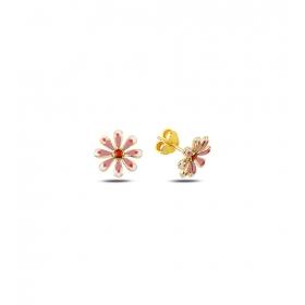 eJOYA Çocuk Çiçek Altın Küpe 83397
