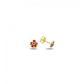eJOYA Çocuk Çiçek Altın Küpe 83400