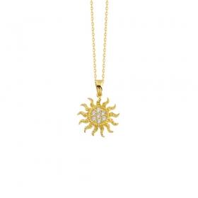 eJOYA 14 Ayar Altın Güneş Taşlı Kolye 83409