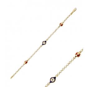 eJOYA Nazarlı Uğur Böceği Altın Künye 83550