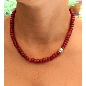 eJOYA Doğal Kırmızı Jade(Yeşim) Taşlı Kolye 83651