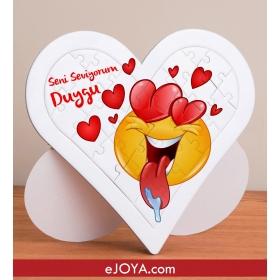 Kişiye Özel Love You Kalp Puzzle hf7908 80653