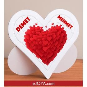 Kişiye Özel Love You Kalp Puzzle hf7910 80654