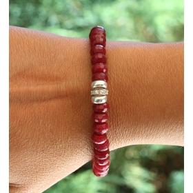 eJOYA Doğal Kırmızı Jade(Yeşim) Taşlı Bileklik 83734