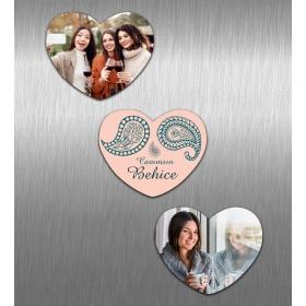 eJOYA Kişiye Özel Resimli Kalp Magnet Seti 83736