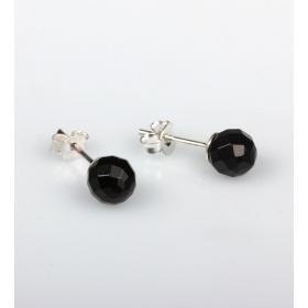 eJOYA 6 mm Siyah Zirkon Taşlı Küpe 83843