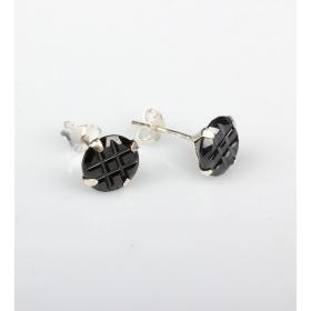 eJOYA  10 mm Siyah Zirkon Taşlı Küpe 83846