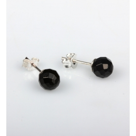 eJOYA 7 mm Siyah Zirkon Taşlı Küpe 83849