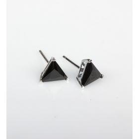 eJOYA 7x7mm Siyah Zirkon Tektaş Küpe 83863