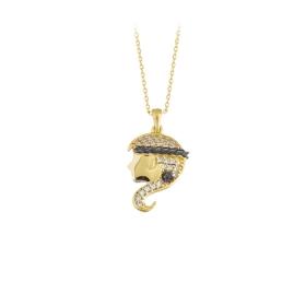 eJOYA 14 Ayar Altın Mısırlı Taşlı Kolye 83957