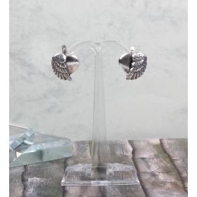eJOYA Gümüş Otantik Kalp Kanat küpe 83984