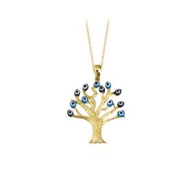 eJOYA 14 Ayar Altın Ağaç Taşlı Kolye 83993