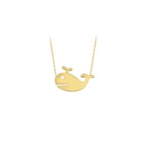 eJOYA 14 Ayar Altın Balina Taşlı Kolye 83999