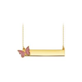 eJOYA 14 Ayar Altın Kelebek Kolye 84035