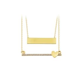 eJOYA 14 Ayar Altın Şerit Yıldız Kolye 84052