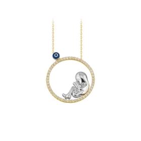 eJOYA 14 Ayar Altın Bebek Kolye 84056