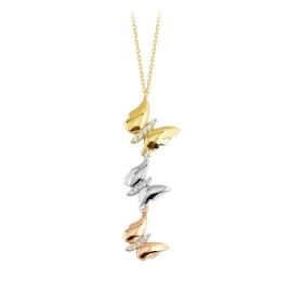 eJOYA 14 Ayar Altın Kelebek Kolye 84108